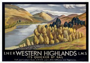 Vintage travel poster - Scottish highlands